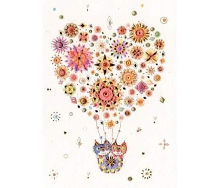 Открытка Turnowsky Воздушный шар сердце с котами MO6580