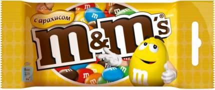 Драже M&M's с арахисом и молочным шоколадом 45 г
