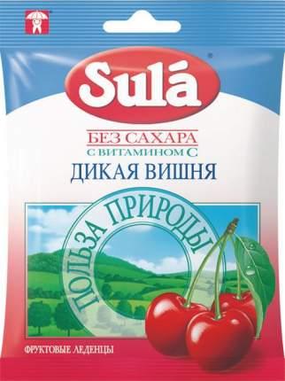 Леденцы Sula без сахара с витамином С вишня 60 г