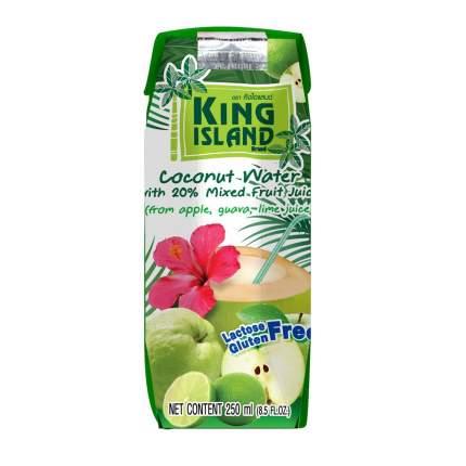 Вода кокосовая King Island  с фруктовым соком лайм-гуава-яблоко 250 мл