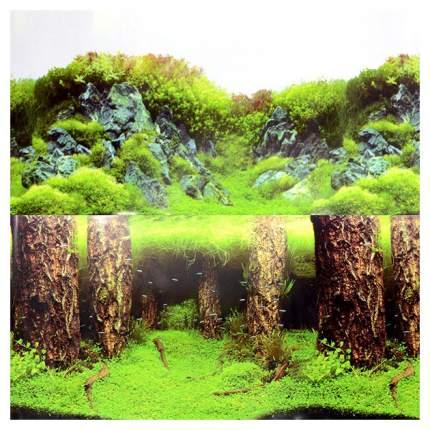 Фон для аквариума Laguna Затонувшие стволы/Изумрудные скалы 567 г размер 30х1500 см