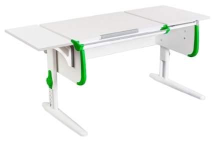 Парта Дэми White Стандарт СУТ-24-01К С боковой приставкой Белый/Зеленый