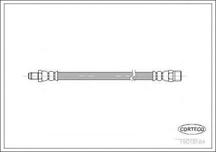 Шланг тормозной Corteco 19018184