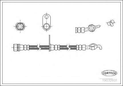Шланг тормозной системы Corteco 19032601