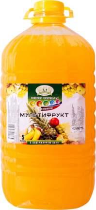 Напиток Прогулка по саду мультифрукт с содержанием сока 5 л