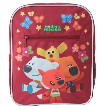 Рюкзак детский с ручкой для переноски Action! Fancy Ми-ми-мишки с мягкой спинкой Красный