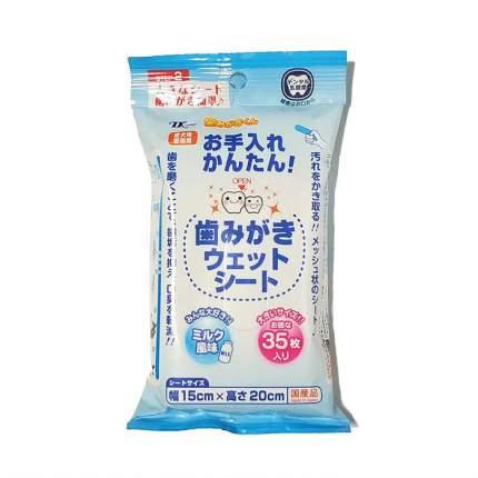 Влажные салфетки Japan Premium Pet, с пропиткой из зубной пасты для гигиены рта, 35 шт