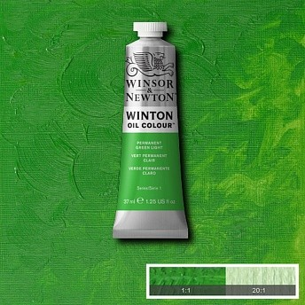 Масляная краска Winsor&Newton Winton перманентный светло-зеленый 37 мл