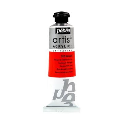 Акриловая краска Pebeo Artist Acrylics extra fine №5 кадмий светло-красный 37 мл