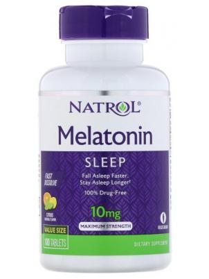 Natrol Melatonin 10mg Fast Dissolve 60tab (60 таб.), Цитрус