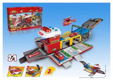 Парковка-трансформер «Пожарная служба», свет и звук Sima-Land