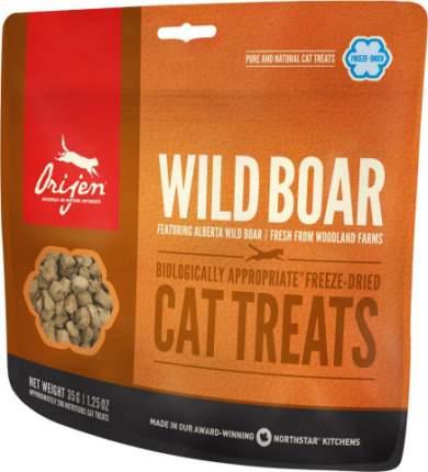 Лакомство для кошек Orijen FD Wild Boar, дикий кабан, сублимированный, 35г