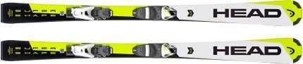 Горные лыжи Head Supershape SLR 2 White/Neon/Yellow + SLR 7.5 AC 2019, 150 см