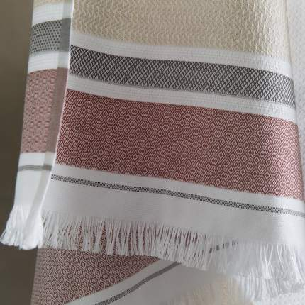 Полотенце 70x140см LE JACQUARD FRANCAIS FOLK, цвет белый, 100% хлопок