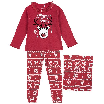 Пижама детская Chicco, цв. красный р.128
