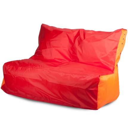 Бескаркасный диван ПуффБери Оксфорд one size, оксфорд, Красный/Оранжевый