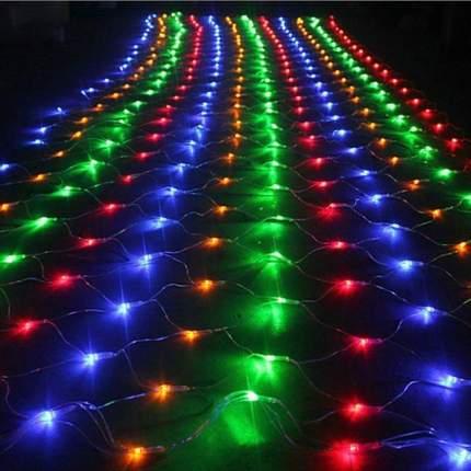 Светодиодная гирлянда-сетка LED 200 лампочек, 5 режимов, 2 м (разноцветная)