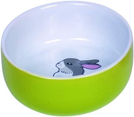 Миска Nobby Rabbit для грызунов (200 мл, Белый с салатовым)