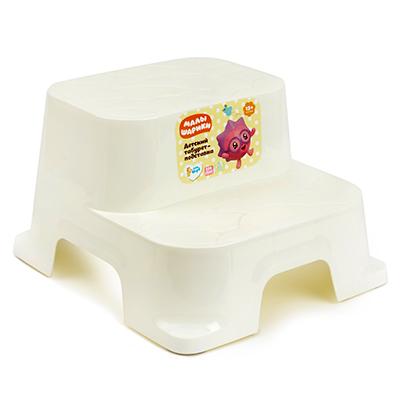 Детский табурет-подставка Plastic Centre Малышарики молочный