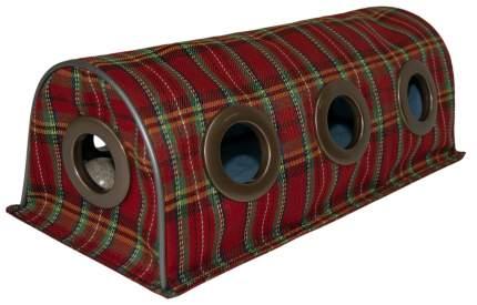 Тоннель для кошек Великий Кот, интерактивная игрушка, с мятным мячиком, шотландка