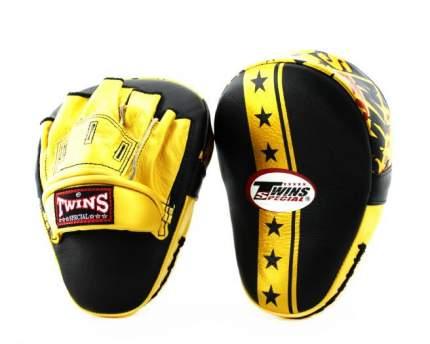 Лапы боксерские TWINS FPML10-51 черно-золотые
