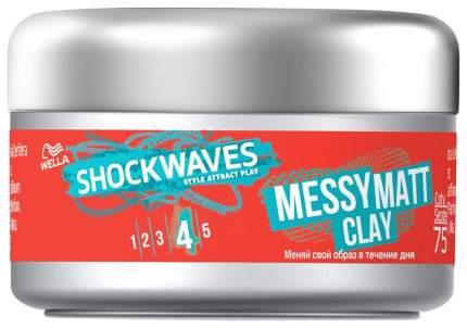 Средство для укладки волос Wella Shockwaves Messy Matt Clay