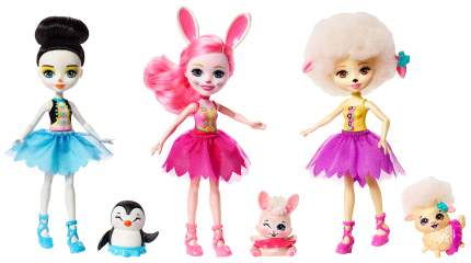 Кукла Enchantimals Волшебные балерины 3 куклы FRH55 15 см