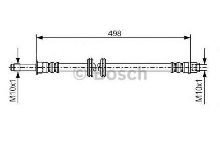 Шланг тормозной системы Bosch 1987481006