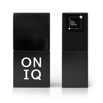 Финишное покрытие Oniq True Matte Topcoat с матовым эффектом 10 мл