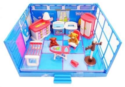 Модульная комната Abtoys Счастливые друзья в наборе с мебелью и аксессуарами, 13 предметов