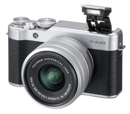 Фотоаппарат цифровой компактный Fujifilm X-A20 Silver