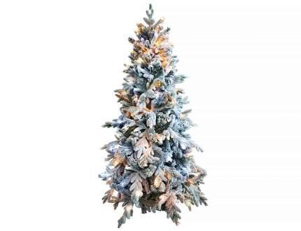 Ель искусственная Crystal Trees Неаполь KP8821SL 210 см зеленая заснеженная