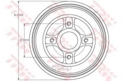 Барабан тормозной TRW/Lucas DB4214MR