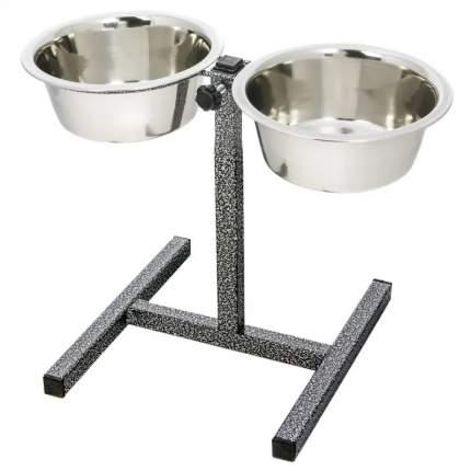 Набор мисок для кошек и собак Triol, сталь, серебристый, 2 шт по 0.5 л