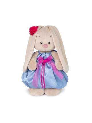 Мягкая игрушка BUDI BASA Зайка Ми в синем платье с розовым бантиком 25 см