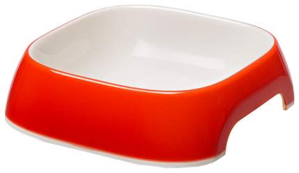 Одинарная миска для кошек и собак Ferplast, пластик, резина, белый, красный, 1.2 л