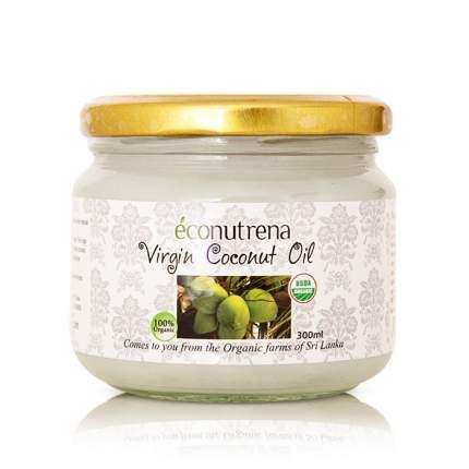 Масло кокосовое Econutrena органическое первого холодного отжима 300 мл