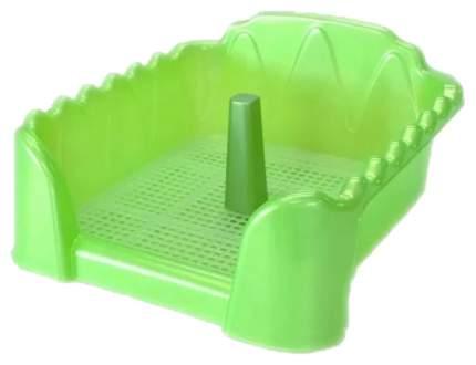 Лоток для собак Homepet 55х40 см зеленый