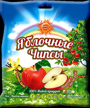 Чипсы Живые снеки яблочные с ванилью 25 г