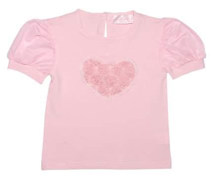 Блузка Bon&Bon розовая с сердечком из роз 271.2, р.98 для девочек