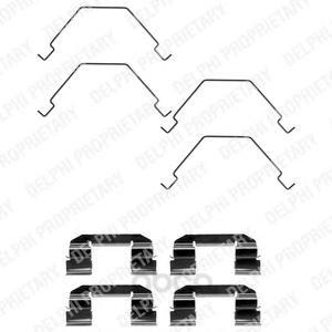 Ремкомплект тормозных колодок пер mazda 323 1.6/2.0/626 1.9 99-04 Delphi LX0375