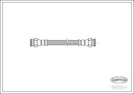 Шланг тормозной CORTECO 19025871