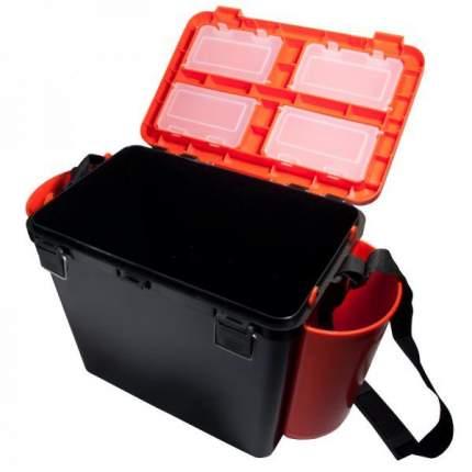 Рыболовный ящик Тонар Helios FishBox 19 л односекционный черно-оранжевый