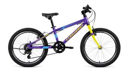 "Велосипед Forward Rise 20 2.0 2019 11"" purple/yellow"