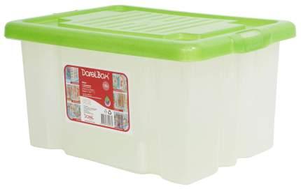 Ящик для игрушек Дарел с крышкой зеленый 18 л