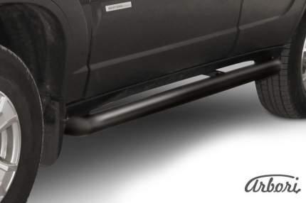 Защита порогов d76 труба  Arbori черн. для Chevrolet NIVA 2010-нв