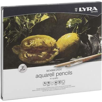 Профессиональный набор акварельных карандашей LYRA REMBRANT AQUARELL 24 цветов