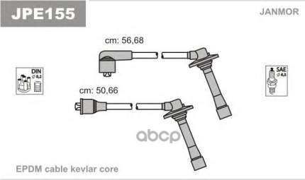 Комплект проводов зажигания JANMOR JPE155