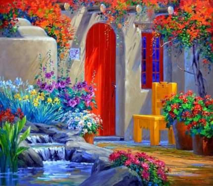 Картина по номерам на картоне Color Kit Уютный дворик