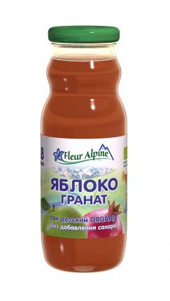 Сок детский Fleur Alpine Органик яблоко-гранат, 8 мес. 8 шт.